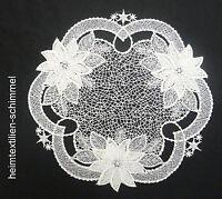 PLAUENER SPITZE ® Tischdeckchen WEIHNACHTEN Deckchen Tischdecke STERN 20cm Deko