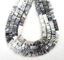 AAA Quality 1 Strand Natural Dendritic Opal Heishi Beads Square Shape Wholesale
