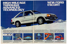 1981 FORD Escort Vintage Original 6 page Print AD - Coupe and Wagon photo USA
