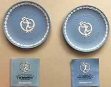 Wedgwood Jaspar Plates Moscow 1980, Los Angeles 1984 Olympiads Inscribed