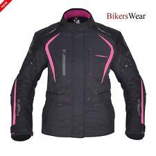 Oxford Dakota Ladies/Women Motorcycle Waterproof Jacket Black/Pink