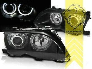 CCFL Angel Eyes Scheinwerfer für BMW E46 Limousine Touring schwarz