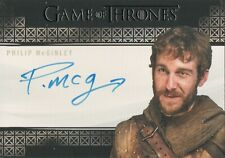 Game of Thrones Complete Series, Philip McGinley (Anguy) Autograph Card