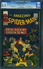 Amazing SPIDER MAN # 27 US MARVEL 1965 Green Goblin SPIDERMAN CGC 6.5 FN +