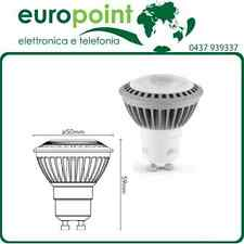 Lampada faretto LED spot GU10 7W watt bianco naturale 4000K >545lm 35° 230V