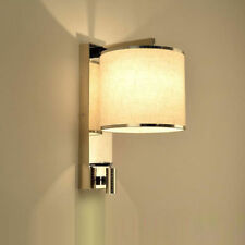 Pagazzi Lighting Abel Square Wall Light Polished Chrome Fabric Shade XXX6489