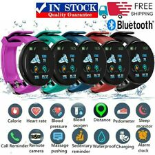 D18 Reloj Inteligente Pulsera Fitness rastreador Monitor de ritmo cardíaco para Samsung iPhone