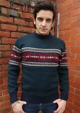 FIOCCO di NEVE da Uomo Maglione Norvegese Knitwear Sweater Vintage Renna L