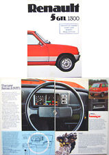 Renault 5 GTL 1300 1976 Original UK Sales Brochure