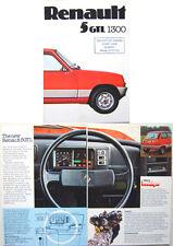 Renault 5 GTL 1300 1976 Original UK Sales Brochure