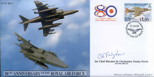 CC41d raf harrier fdc signée battle of britain pilote acm sir Foxley norris