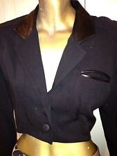 casadei collection black bolero jacket  Short Jacket Two Front Buttons Size 8