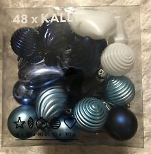 New~48 Lovely Blue & White Ikea Christmas Ornaments~Only 50 cents each