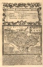 'A Map of Kent'. County map by J. OWEN & E. BOWEN 1753 old antique chart