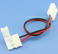 10MM PCB 2 Pin Line Connector Adapter for 5050 Single Color Wire LED Strip 50pcs
