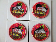 Fiesta Casino North Las Vegas, Nevada  $5 Royal Flush (all 4 suits) Chip Lot -N