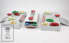 Vintage 1960's Sears Battery Tin Toy - Car Ferry & Docks / Turnpike Line, Japan