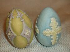 Set of 2 Eggstravagant 2005 Victory & 2005 Faith Eggs by Tom Herold for Demdaco