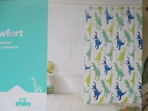 DINOSAURS SHOWER CURTAIN NEW