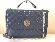 NWT Anne Klein Sweet Charity II Blue Patent Quilted Shoulder Crossbody Bag