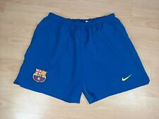 FC Barcelona 2004/2005 NIKE Home Football Shorts Men's Size M Lined Soccer Pants