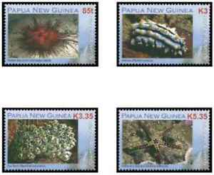 Timbres Faune marine Papouasie Nlle Guinée 1207/10 ** (38093X) - cote : 12 €