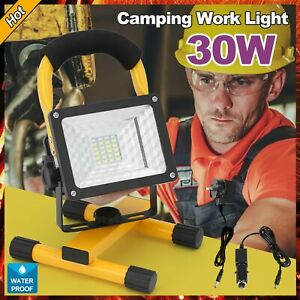 30W LED Rechargeable Flood Light Cordless SiteMobile Portable Camping Work Lamp