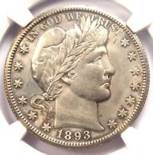 1893-O Barber Half Dollar 50C - NGC Uncirculated Detail - Rare Date in MS/UNC!