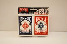 Double Pack Playing Cards, Bicycle Rider Back, Red and Blue Deck