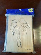 Comotion, 1990s jumbo rubber stamp, Palm Tree. #2309
