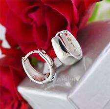 EARRINGS HIGH POLISHED 925 STERLING SILVER RHODIUM PLATED