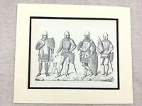 Militare Stampa Medievale Tedesco Cavaliere Suit Di Armatura Battle Da Equipment