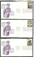 US SC # 1489-1498 Postal People FDC. 10 Covers Set. Marq Cachet.