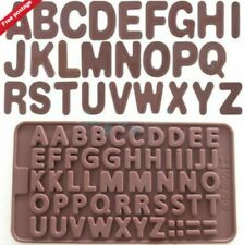Letter Alphabet Silicone Chocolate Jelly Mould Baking Tray Party Birthday Fun