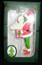 ** I'm Glad You Love Christmas  ** Snowbabies Dept. 56 GRINCH Ornament Dr. Seuss