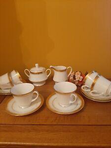 """Vintage 14 piece """"NORITAKE"""" MAJESTIC GOLD china tea set"""