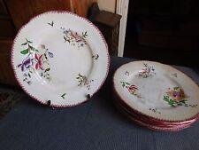 Sarreguemines six piatti per opera di lavoro ceramica servizio Strasburgo 1900