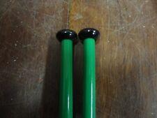 LARGE LONG GREEN PLASTIC Knitting Needles - Size 6.5mm / UK 3 (30cm long)