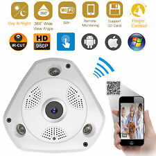 360 Degree Panoramic 960P Hidden Wifi Webcam IR Security IP Camera Two-way Audio