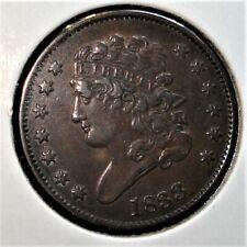 1833 Classic Head Half Cent Nice