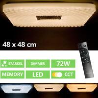Lámpara De Techo LED Panel Bad-Lampe Salón Regulable Cocina Pasillo 72W