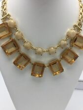 $54.99 Ann Taylor Statement Amber Necklace #156