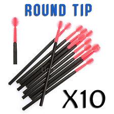 10x Mascara Eyelash Silicon Lash Extension Wand Makeup Round Tip Silicone Brush