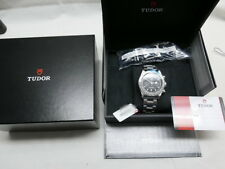 NEW Tudor Heritage Black Bay Chrono on Rivet Bracelet - 79350 - Worldwide Ship