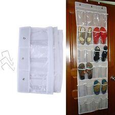 Bolsa Colgante 24 bolsillos espacio guardar Hágalo usted mismo Organizador Zapatos Perchero Colgador ordenado