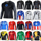 Mens Casual Sports Long Sleeve T-shirt Compression Marvel Superhero Costmue Tops