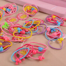 50pcs Baby Girls Kids Colorful Elastic Hair Ties Band Rope Ponytail Scrunchie