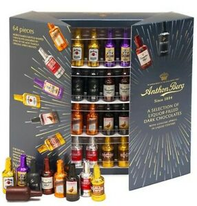 2022 Expire Stock 64 pcs Anthon Berg A Selection of Liquor Filled Dark Chocolate