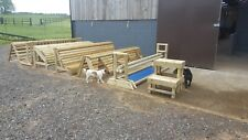 Set of 6 x cross country horse jumps. Brand new, can deliver