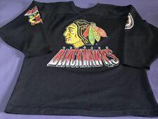 Vtg 1993 NHL Hockey Chicago Blackhawks CCM Jersey Size Men's L Double Sided Rare